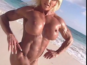 Beach, Mature, Mom, Muscled, Nude