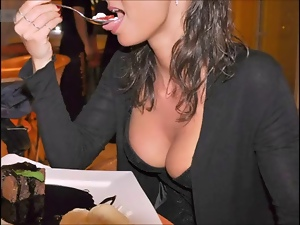Amateur, Cute, Flashing, Italian, Restaurant, Upskirt, Vibrator
