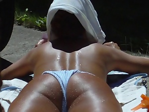 Beach, Hidden cam, Neighbor, Sunbathing, Voyeur