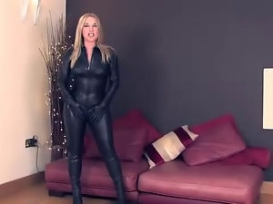 Amateur, British, Catsuit, Leather, Mistress