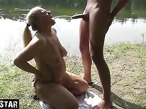Blondes, Blowjob, Drinking, German, Handjob, Hardcore, Horny, Milf, Outdoor, Wife